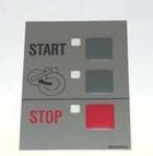 Etiquette 3 boutons de commande (start, stop, ouverture) Nyborg référence NYB489500826