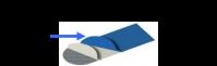 Housse toile de table à repasser PONY TA FVC plateau longueur 110 mm couleur bleu référence 0251B