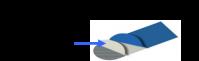 Molleton de table à repasser PONY Classic plateau longueur 110 mm couleur bleu référence 06235