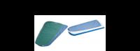 Ensemble molleton et toile prontotop de table à repasser PONY Maxi et Classic 130, plateau 130 mm, couleur bleu référence