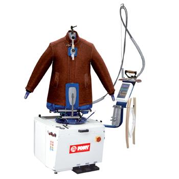 Mannequin universel pour veste à tensionnement vertical et latéral PONY FORM PLUS alimentation sur réseau vapeur