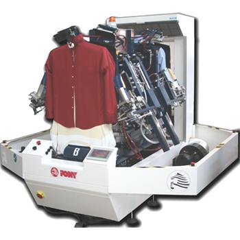 Nouveau mannequin à chemise à système de pressage avec double corps rotatif PONY TWINS