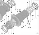 Palier complet pour machine à laver PRIMUS R/RS22 référence R22105000011