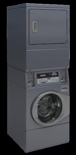 Colonne machine à laver et séchoir capacité 10 kilos LIBRE SERVICE Equipée avec monnayeur individuel