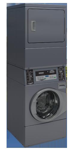 Colonne machine à laver et séchoir capacité 10 kilos LIBRE SERVICE Equipée pour commande par centrale de paiement