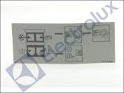 PLAQUE D'INSTRUCTIONS ELECTROLUX REF : 471778150